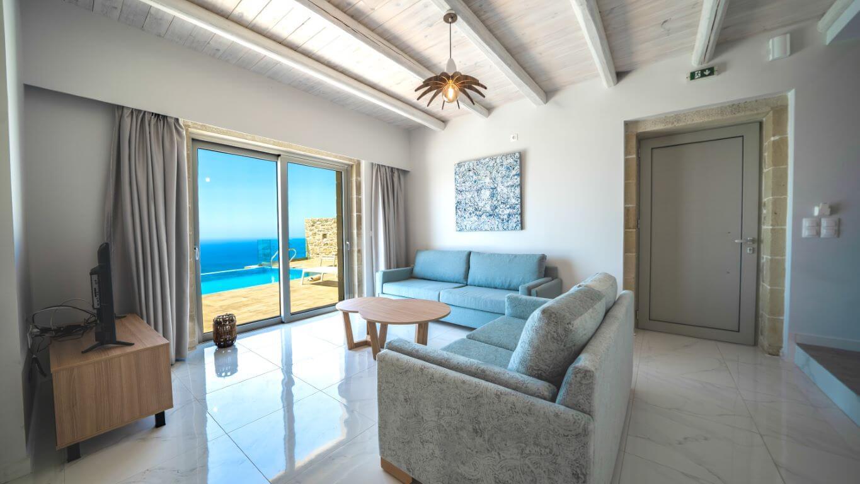 Villa Alkinoos Living room - Villa Alkinoos Σαλόνι