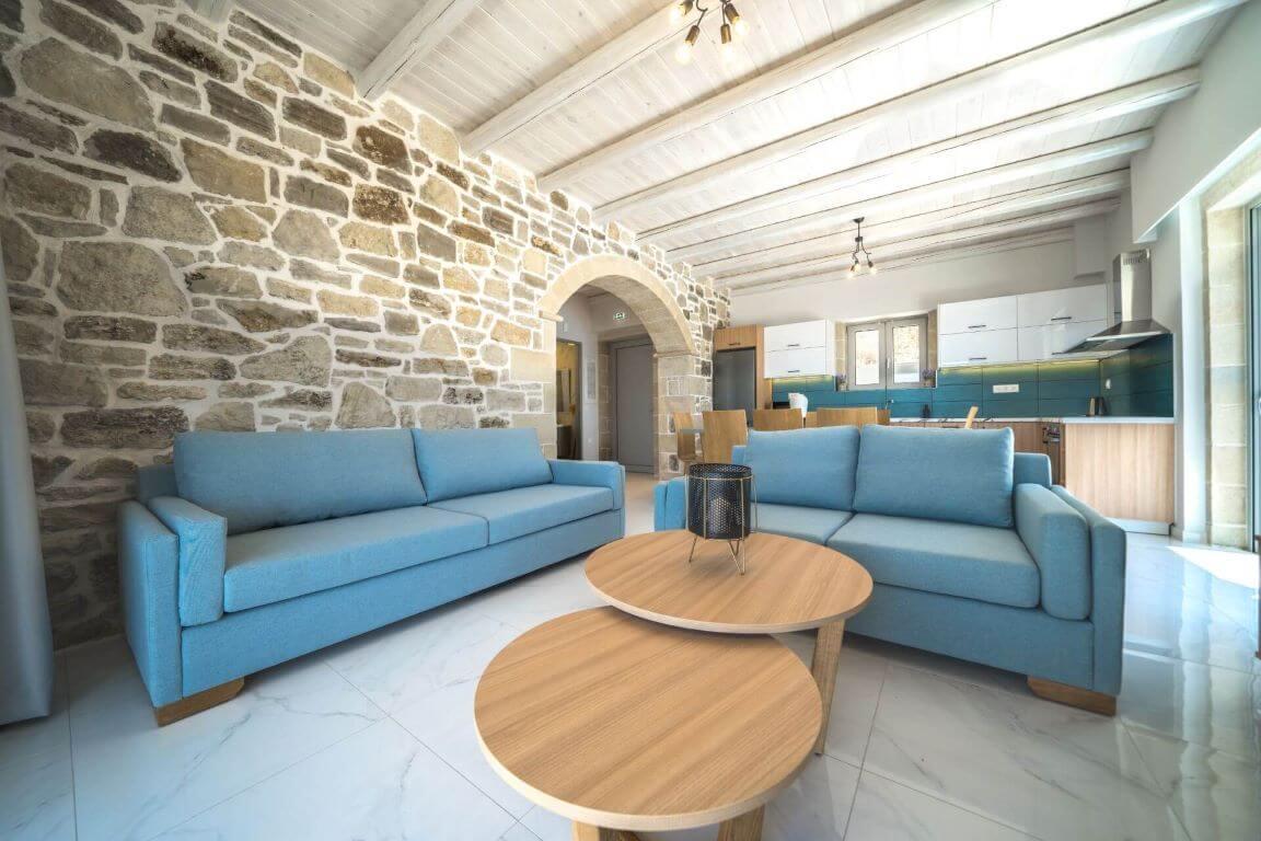 Villa Ariti living room - σαλόνι