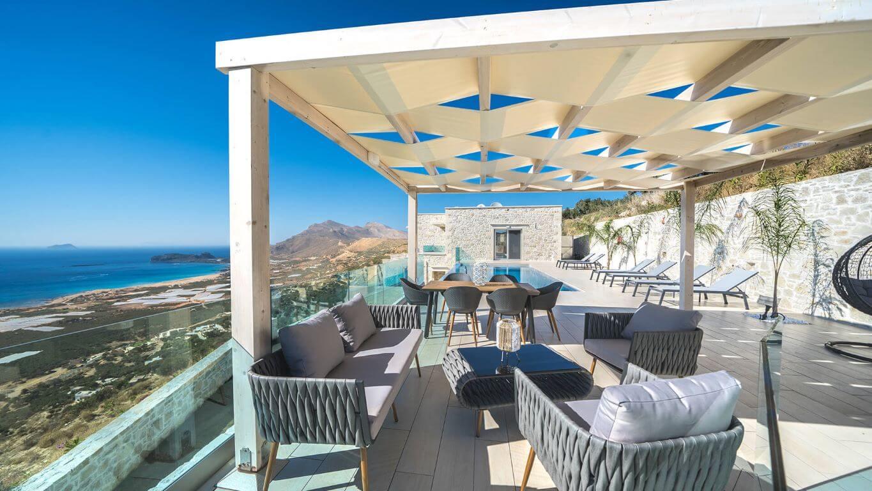 Villa Ariti external lounges - εξωτερικοί χώροι / πισίνα